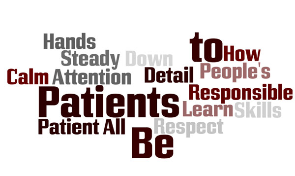 Phlebotomist Traits Tag Cloud